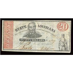 State of Louisiana $20, 1863