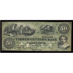 Timber Cutter's Bank $50, 1859