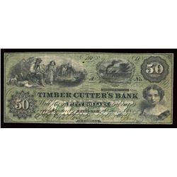 Timber Cutter's Bank $50, 1859