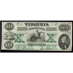 Virginia Treasury Note $10, 1862