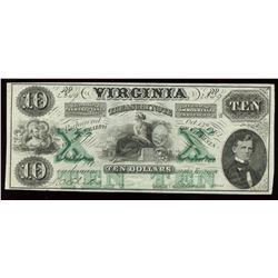 Virginia Treasury Note $10, 1862