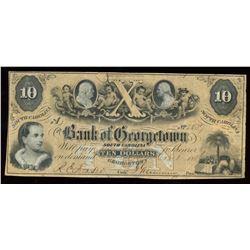 Bank of Georgetown $10, 1856