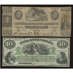 Confederate Banknote - Lot of 4