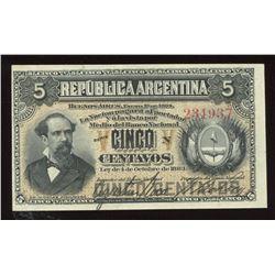 Argentina, 5 Centavos, 1883
