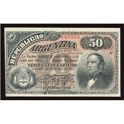 Argentina, 50 Centavos, 1883
