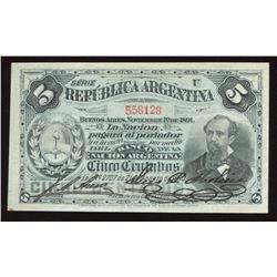 Argentina, 5 Centavos, 1891