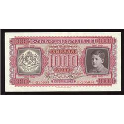 Bulgaria 1000 Leva, 1943