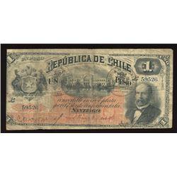 Chile 1 Peso, 1890