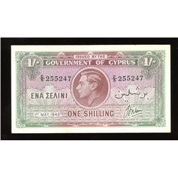 Cyprus One Shilling, 1942