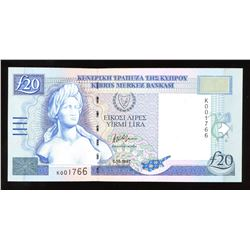 Cyprus 20 Pounds, 1997
