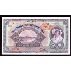 Czechoslovakia, 5000 Korun, 1920 Specimen