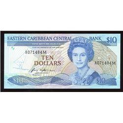 Eastern Caribbean Central Bank $10, 1985