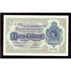 Falkland Islands One Pound, 1974