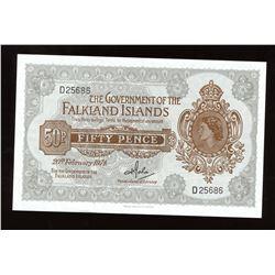 Falkland Islands Fifty Pence, 1974