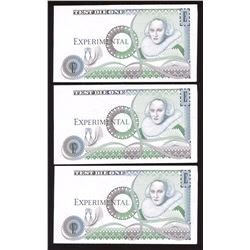 Bank of England - Experimental Test Die Banknotes