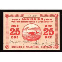 Greenland 25 Ore, 1913
