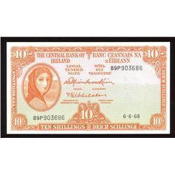 Central Bank of Ireland Ten Shillings, 1968
