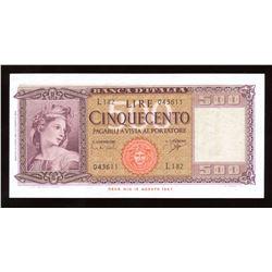 Italy 500 Lira, 1961