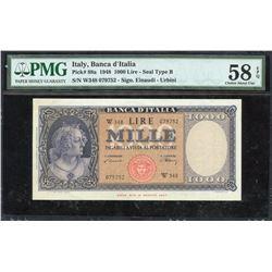 Italy 1000 Lira, 1948