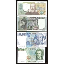 Italy - Lot of 4 Uncirculated Notes