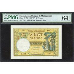 Madagascar 20 Francs, 1937-47 (ND)