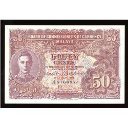 Malaya 50 Cents, 1941
