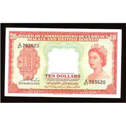 Malaya & British Borneo $10, 1953