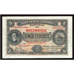 Mozambique Five Escudos, 1941