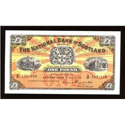 National Bank of Scotland One Pound, 1958