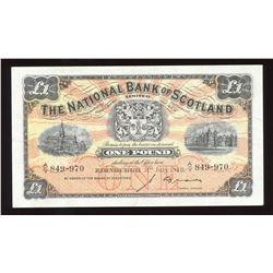 National Bank of Scotland One Pound, 1948