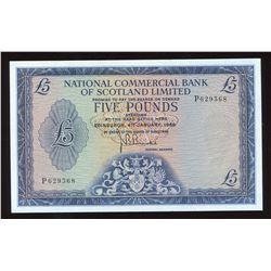 National Bank of Scotland Five Pounds, 1968