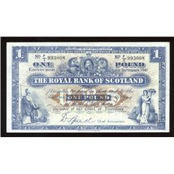 Royal Bank of Scotland One Pound, 1941
