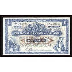 Royal Bank of Scotland One Pound, 1941