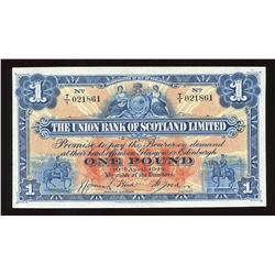 Union Bank of Scotland Ltd. One Pound, 1944