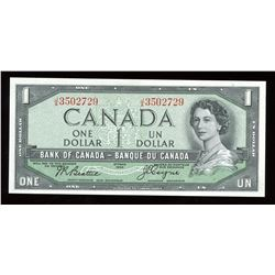 Bank of Canada $1, 1954 - Devil's Face