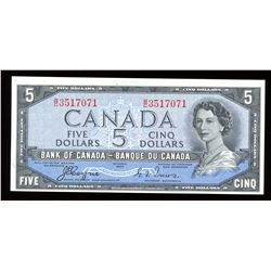 Bank of Canada $5, 1954 - Devil's Face