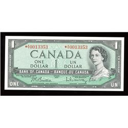 Bank of Canada $1, 1954 - Replacement Note