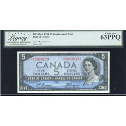 Bank of Canada $5, 1954 - Replacement Note