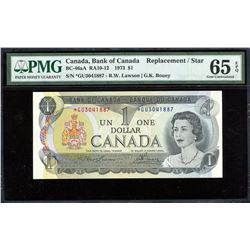 Bank of Canada $1, 1973 - Replacement Note