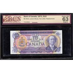 Bank of Canada $10, 1971 - Replacement Note