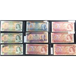 Bank of Canada 14 Multi-Colour Banknote Lot