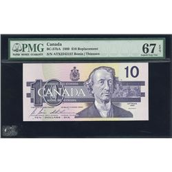 Bank of Canada $10, 1989 Replacement Note