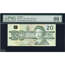 Bank of Canada $20, 1991 With Serif