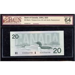 Bank of Canada $20, 1991 - Replacement Note