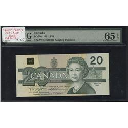 Bank of Canada $20, 1991 - Radar Note