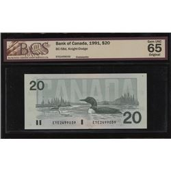 Bank of Canada $20, 1991