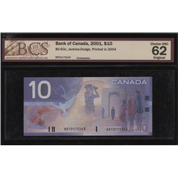 Bank of Canada $10, 2001