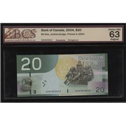 Bank of Canada $20, 2004