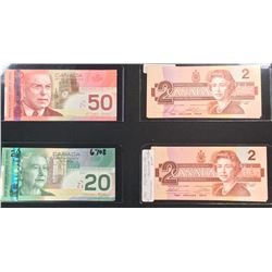 Bank of Canada 17 Banknote Lot