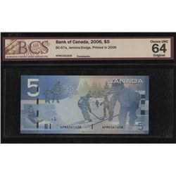 Bank of Canada $5, 2006
